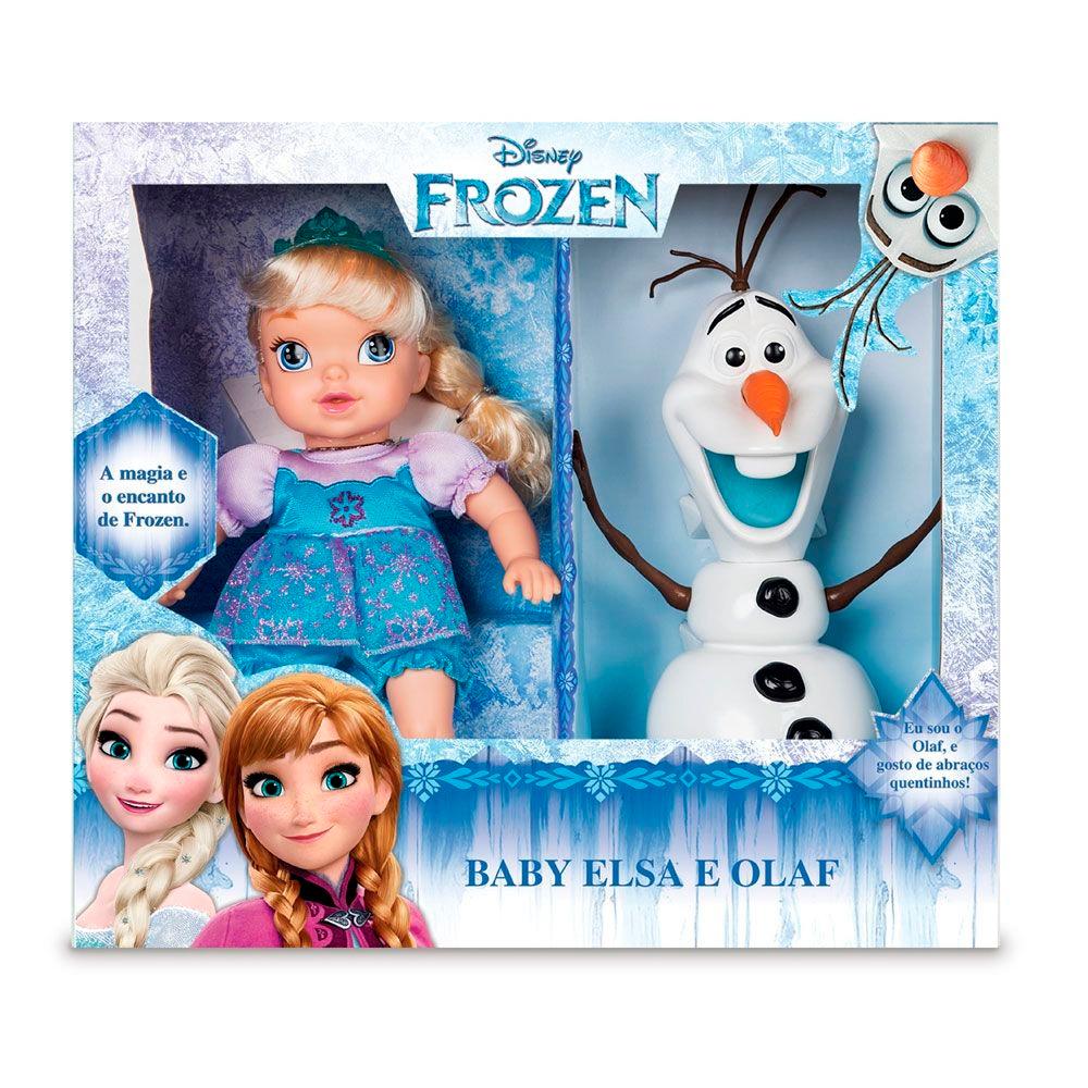 Boneca Princesa Elsa C/Olaf Mimo