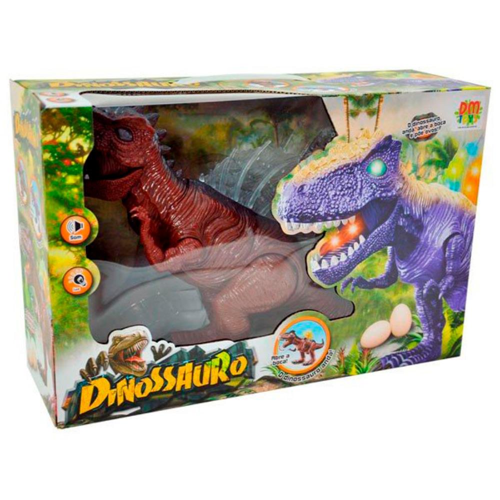 Boneco Dinossauro Som/Luz/Ovinhos Sort Dm