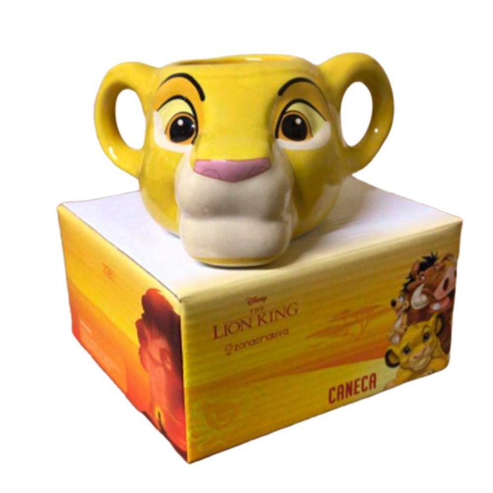 Caneca Rei Leão 3D 350ml Zona Criativa