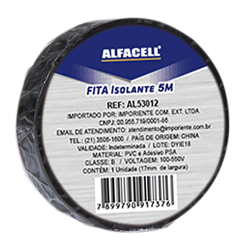 FITA ISOLANTE COM 10 ROLOS 5M - ALFACELL