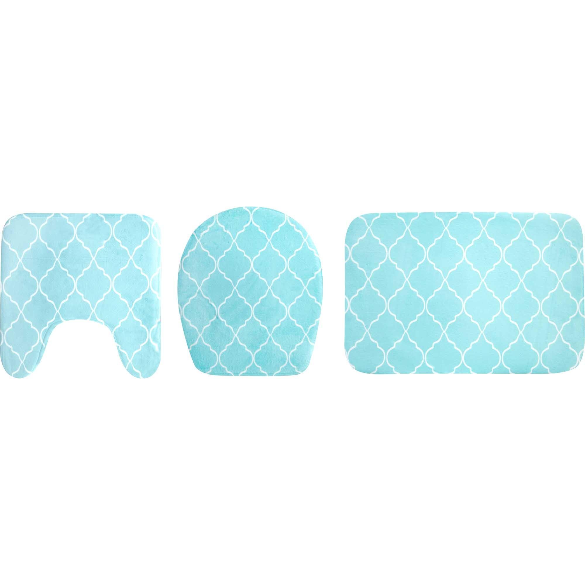 Kit 3 Peças Para Banheiro Geométrico - Yin's Home