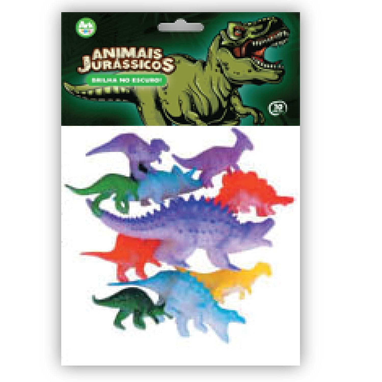 Kit Dinossauros Brilha No Escuro Com 10 Peças - Ark