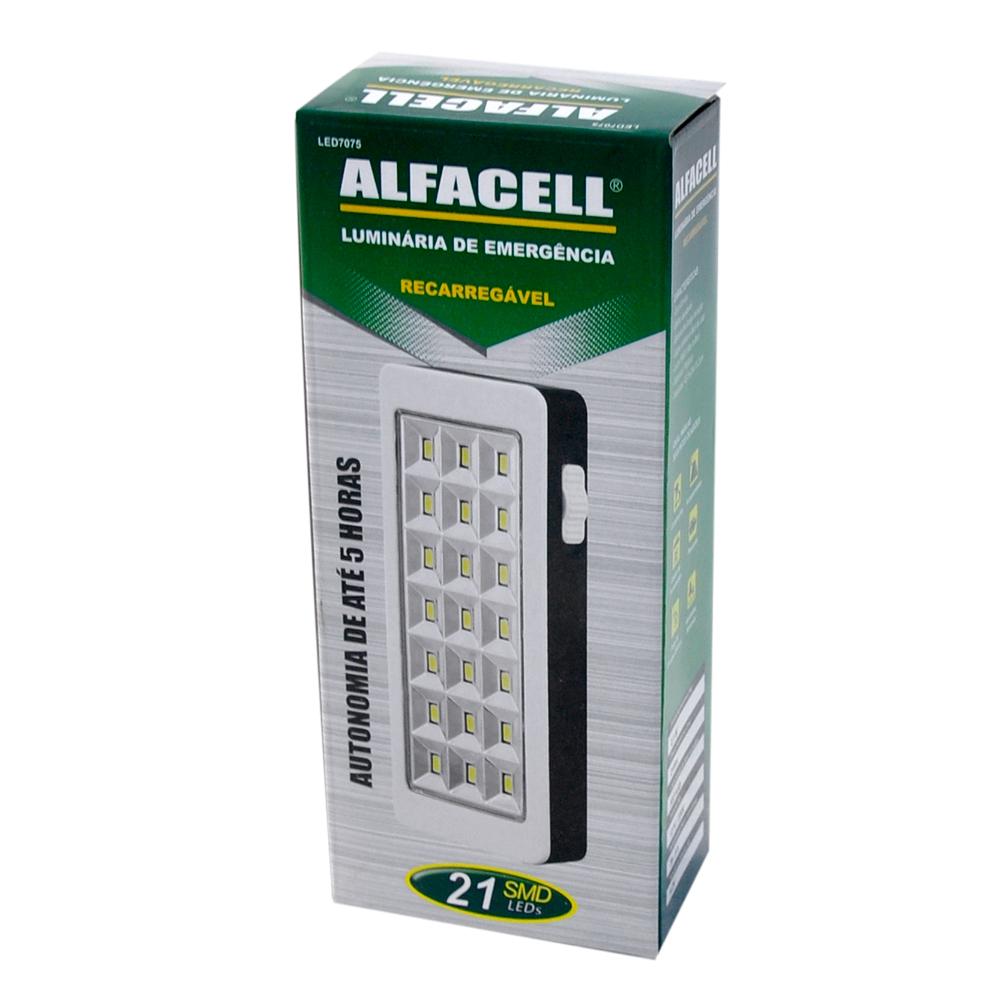 Lanterna Manual 1 Led Recarregável Bivolt - Alfacell