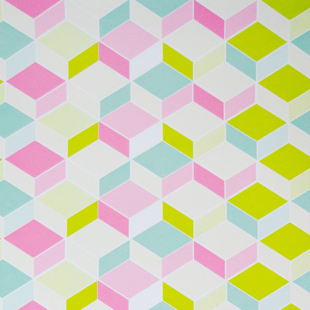 Papel De Parede 45x500cm 3d Geométrico Color