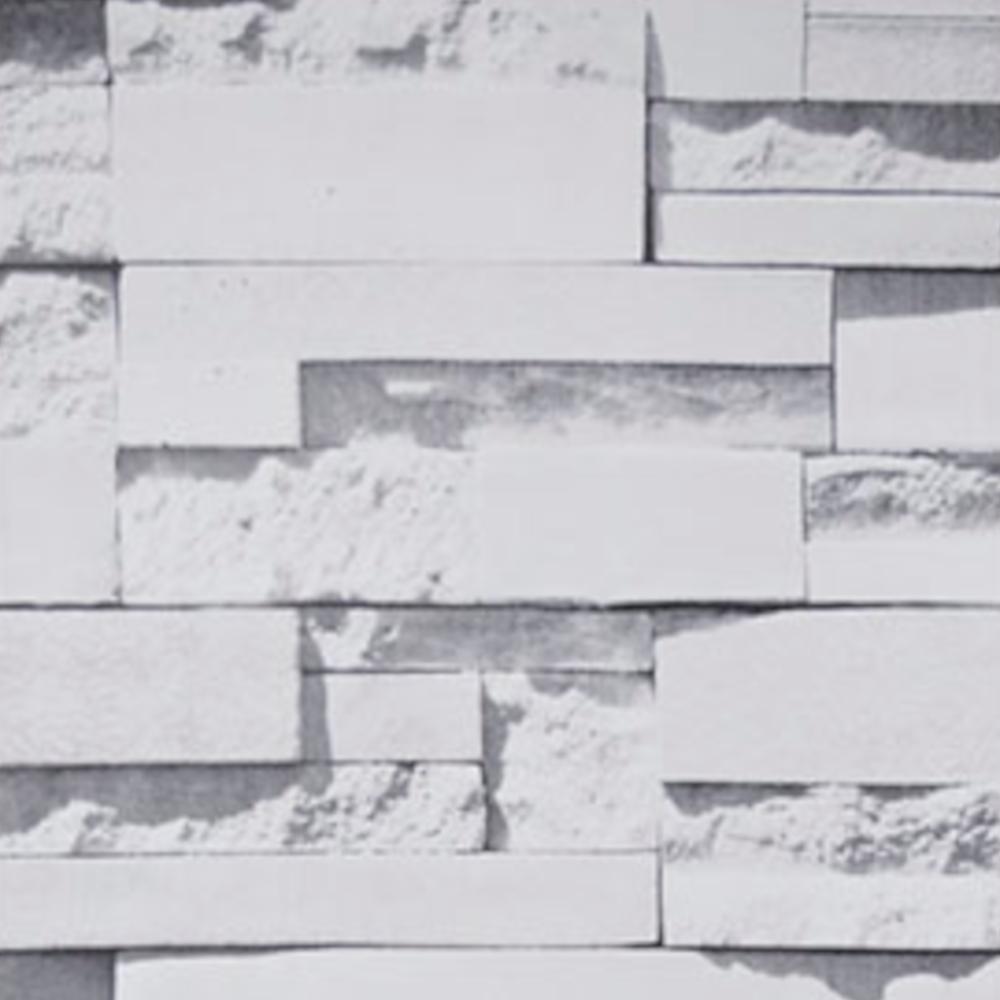 Papel De Parede 45x500cm Pedras Brancas