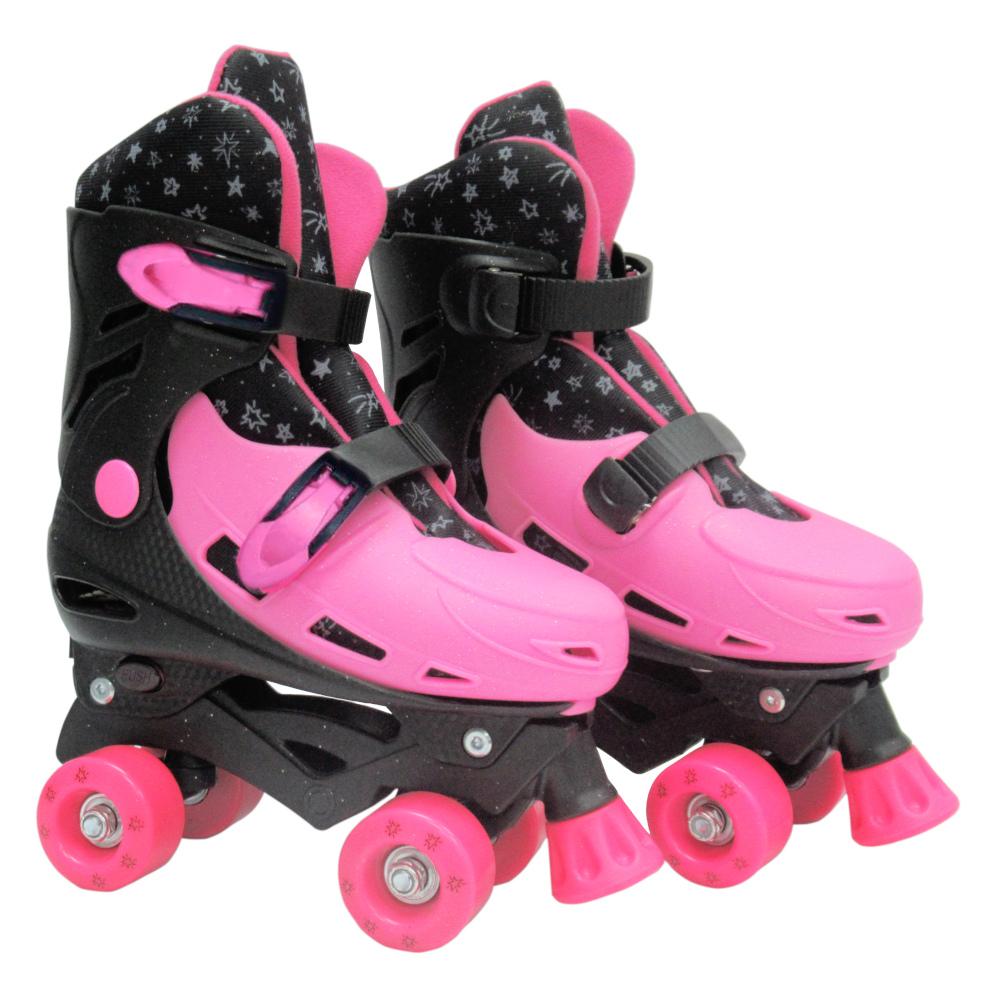 Patins Roller Ajustavel G 37-40 Pink - DM TOYS