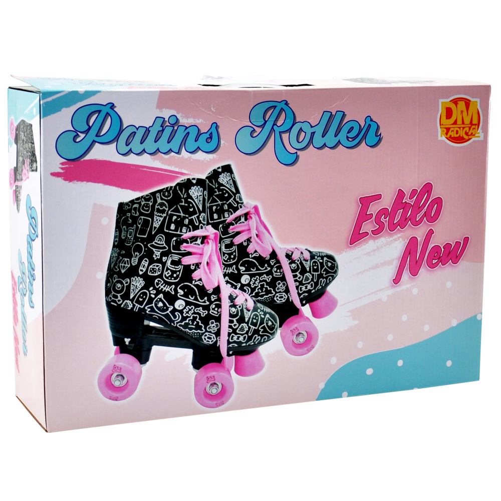 Patins Roller Estilo New Preto - DM TOYS