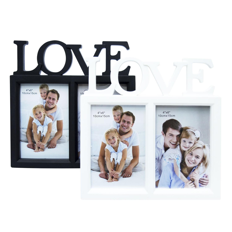 QUADRO LOVE COM 2 FOTOS E 13 X 18CM - YIN'S HOME SORTIDO