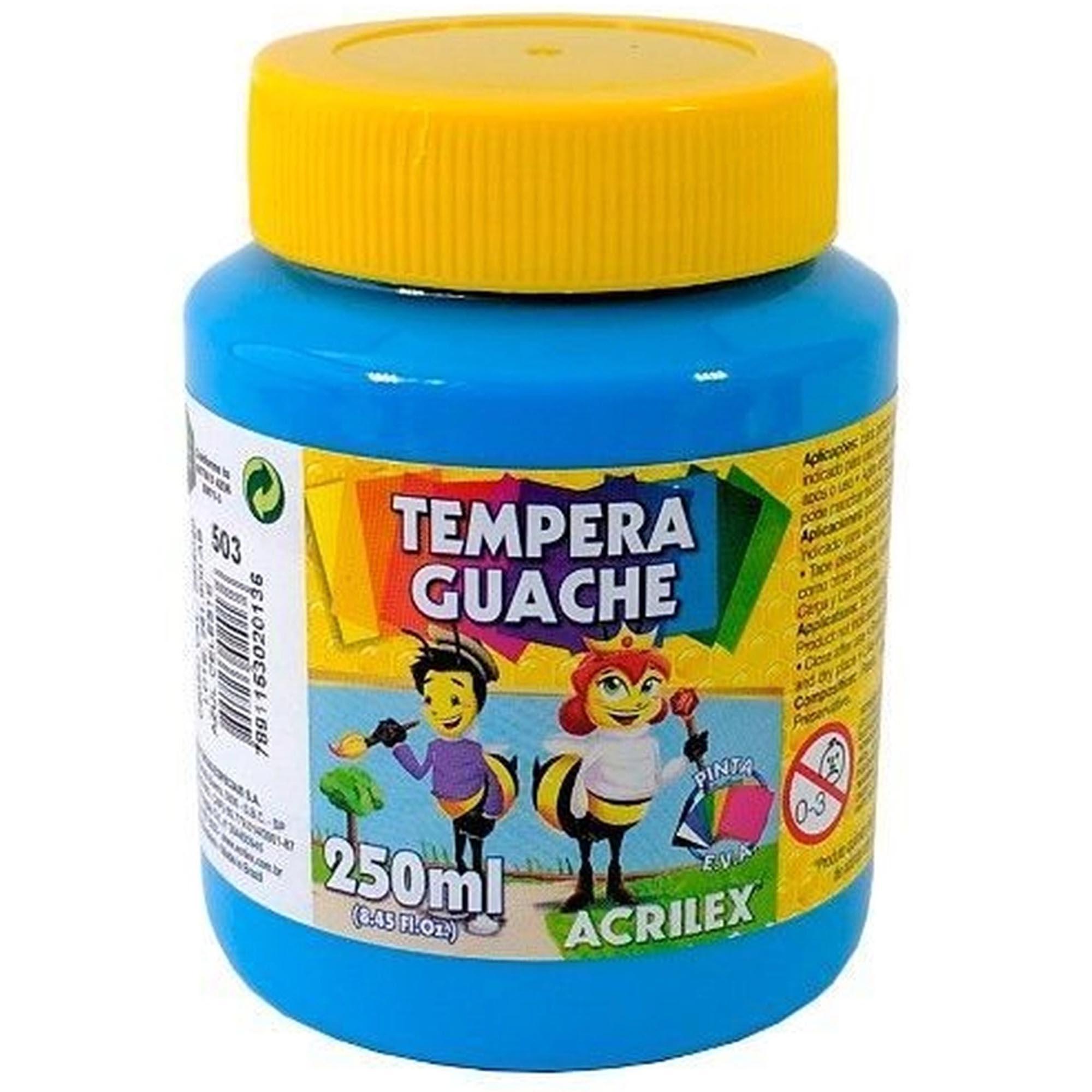 TEMPERA GUACHE 250ML - ACRILEX AZUL CELESTE