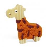 Alinhavo de Madeira Girafa Filó Brinquedo Educativo