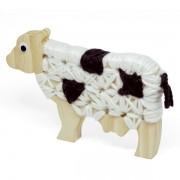 Alinhavo de Madeira Vaca Dolores