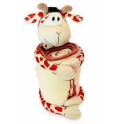 Bicho de Pelucia Amimais com Mantinha Girafa