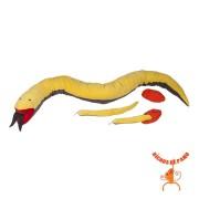 Bicho de Pelúcia Serpente Grávida com 2 filhotes