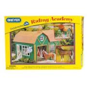 Bichos Miniaturas Colecioanaveis Kit Stablemates Academia de Equitação Breyer