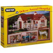 Bichos Miniaturas colecionaveis Kit Stablemates Hospital Veterinário Breyer