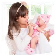 Boneca Bebezinho Da Mamãe Com Fralda E Luva Cotiplás