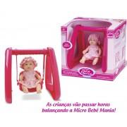 Boneca Micro Bebe Mania Balanço Roma Jensen
