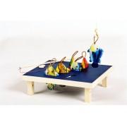 Brinquedo Artesanal de Madeira Cardume Pescaria
