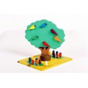 Brinquedo Artesanal de Madeira Jogo A Árvore do Pedro
