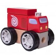 Brinquedo Construindo com Bloquinhos Bombeiro Estrela