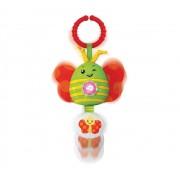 Brinquedo de Atividades Chocalho Musical com Som e Luz Borboleta