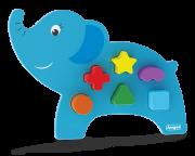 Brinquedo de Madeira Animais Didáticos Elefante