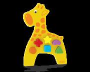 Brinquedo de Madeira Animais Didáticos Girafa