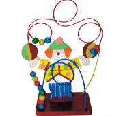 Brinquedo de Madeira Aramado Montanha Russa Palhaço