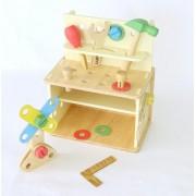 Brinquedo de Madeira Bancada de Ferramentas  Inventando e Consertando
