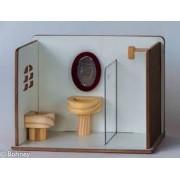Brinquedo de Madeira Banheirinho com Box para casinha de boneca