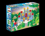 Brinquedo de Madeira Blocos de Montar Castelo do Príncipe 54 peças