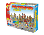 Brinquedo de Madeira Blocos de Montar Construtor 120 Peças