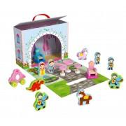 Brinquedo de Madeira Caixa Divertida Castelo
