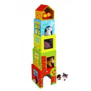 Brinquedo de Madeira Caixas de Empilhar Fazenda