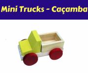 Brinquedo de Madeira Caminhão Mini Truck Caçamba