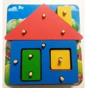 Brinquedo de Madeira Casa Pedagógica de montar