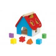 Brinquedo de Madeira Casinha Didática