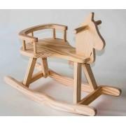 Brinquedo de Madeira Cavalo de Balanço Mirim