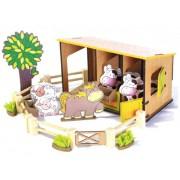 Brinquedo de Madeira Coleção Fazendinha  Estábulo
