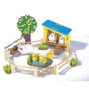 Brinquedo de Madeira Coleção Fazendinha Galinheiro