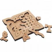 Brinquedo de Madeira Coleção Quebra Cabeça Desafio Modelo 13