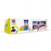 Brinquedo de Madeira Construindo com Bloquinhos Emergência Estrela