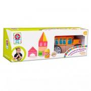 Brinquedo de Madeira Construindo com Bloquinhos Escolinha Estrela