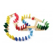 Brinquedo de Madeira Efeito Dominó 76 peças
