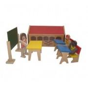Brinquedo de Madeira Escola