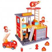 Brinquedo de Madeira Estação Corpo de Bombeiro
