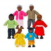 Brinquedo de madeira Família Feliz Afro