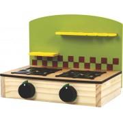 Brinquedo de Madeira Fogão Cooktop