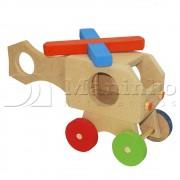 Brinquedo de Madeira Helicóptero P
