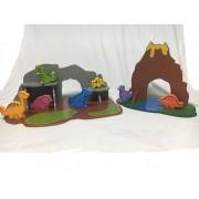 Brinquedo de Madeira Ilha dos Dinossauros